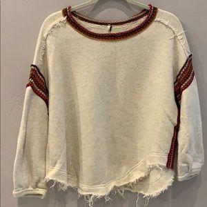 Free People Boho Sweater Cream